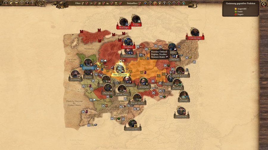 Taktische Übersicht der entdeckten Gebiete