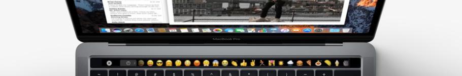 Emojis lassen sich durch die Touch Bar direkt in die Mail transfern. Auch Anhänge oder das klassische Wörterbuch findet man in der Touch Bar!