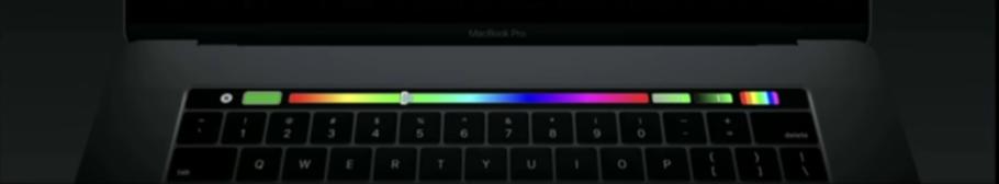 Die Untermenüs werden meistens auf der Touch Bar vom MacBook angezeigt.